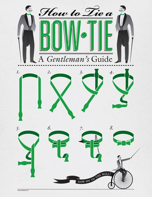How to Tie a Bow Tie from artist Conor Whelan.