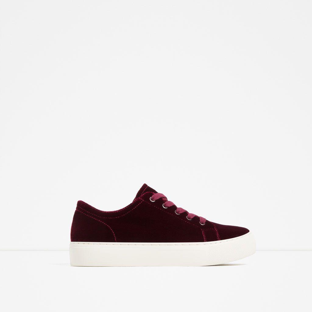 Image 2 Of Velvet Sneakers From Zara A Better Wardrobe