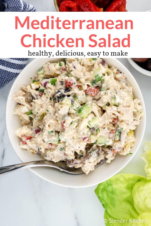 Mediterranean Chicken Salad - Slender Kitchen