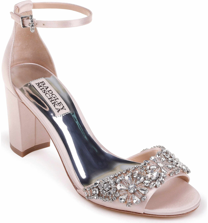 257c51931 Wedding shoe  235 - Badgley Mischka Hines Embellished Block Heel Sandal ( Women)