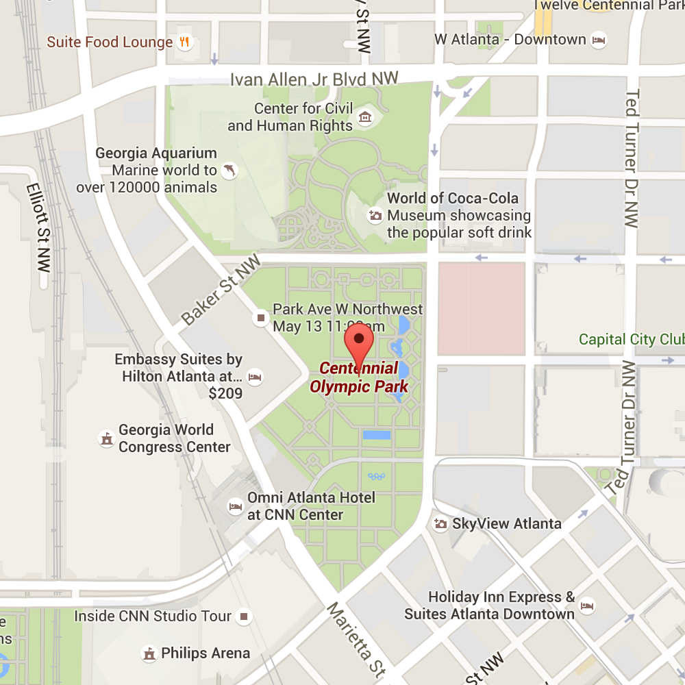 Centennial Park Google Map Image Shakey Knees Festival In Atlanta