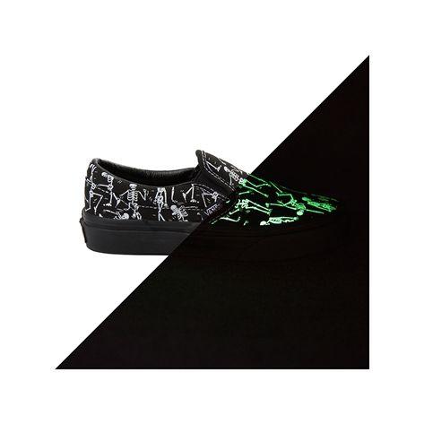 Youth Tween Vans Slip On Bone Dance Glow Skate Shoe The Twins Max