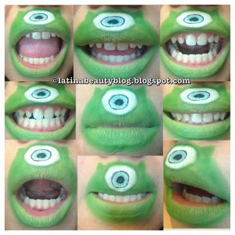 Latina Beauty Blog Mike Wazowski Lip Art Lip Art Funny Lips