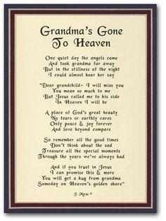 Happy Birthday Grandma in Heaven | ... for grandma Happy ...