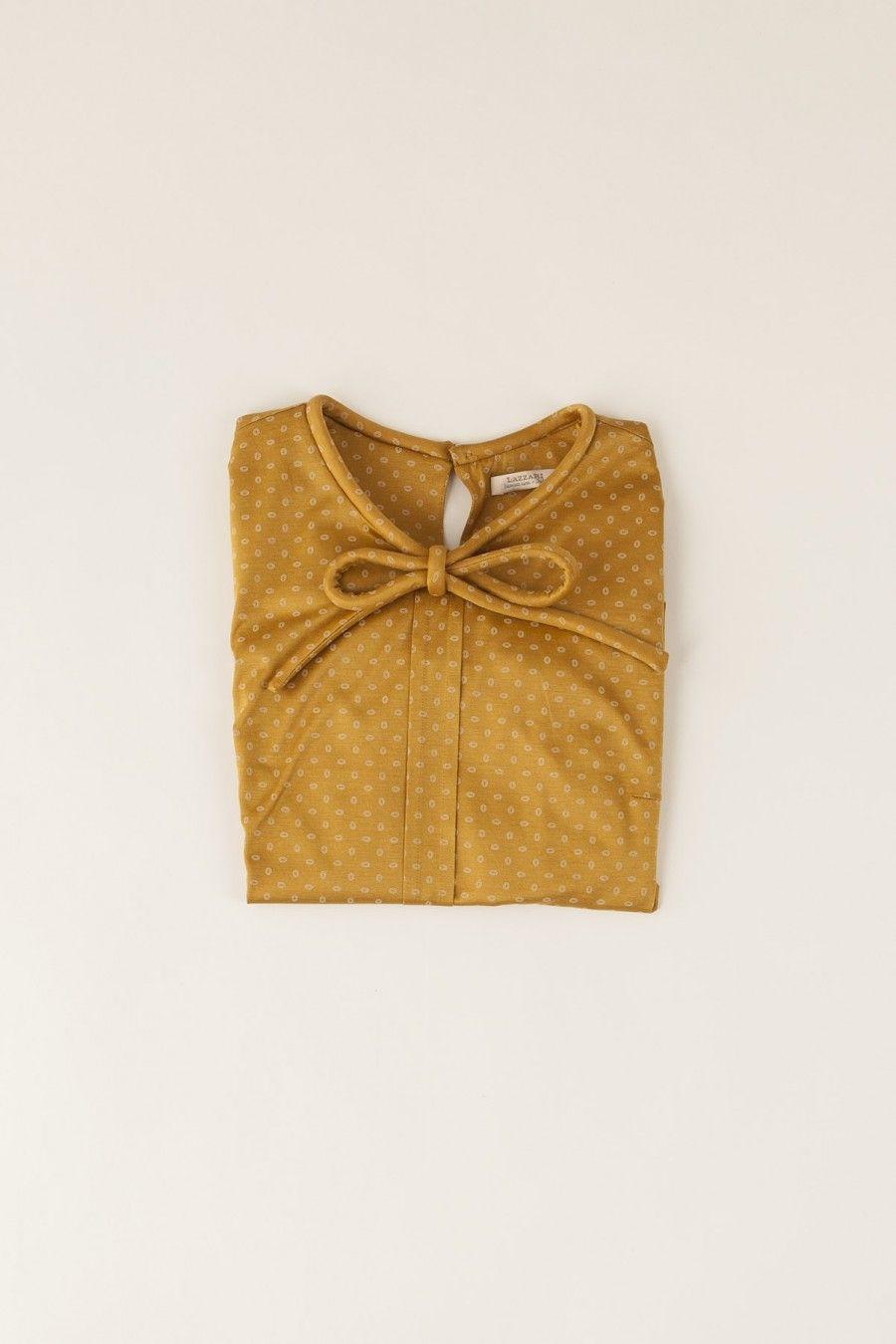 maglia in jersey con fiocco