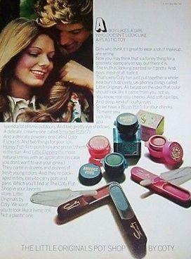 Coty The Original Little Pot Shop Makeup Ad Ca 1970 S