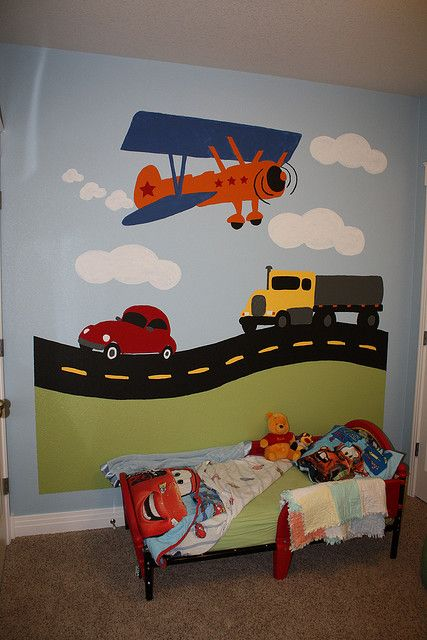 His Cool Transportation Mural Kids Room Kids Bedroom Boy Room