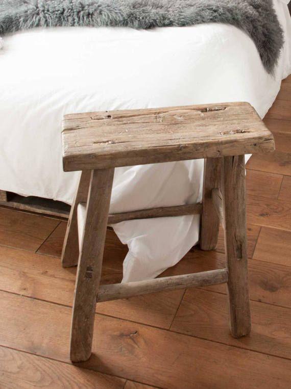 Outstanding Vintage Rustic Wooden Stool Rustic Wooden Stool Rustic Machost Co Dining Chair Design Ideas Machostcouk