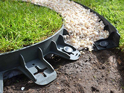 Best4garden No Dig Recycled Lawn Edging Economy Green 60mm Easy Installation With Pegs Supplied Straight Shape Also Can Be Shaped To Any Curves