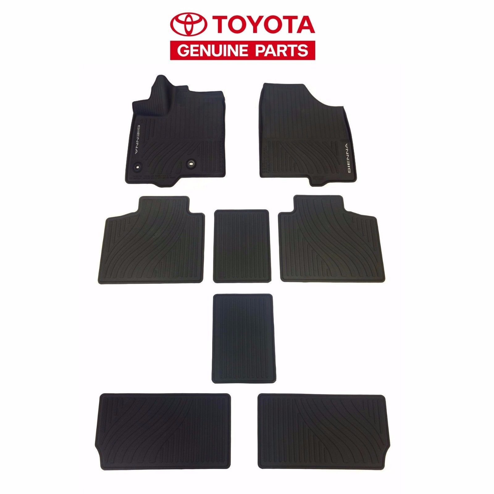 Awesome Amazing Toyota Sienna 2013-2017 All Weather Rubber Tub Floor ...