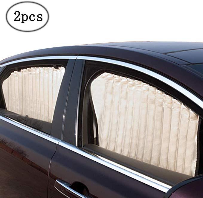 Amazon Com Zatooto Car Side Window Sun Shade Beige 2 Pcs Magnetic Baby Sunshades Car Window Curtain Keep Window Sun Shades Car Window Curtains Side Window