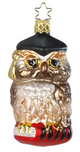 Professor Owl, #1-120-14, by Inge-Glas of Germany