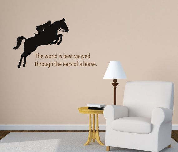 Bedroom Wall Decor For Teenagers Boy Bedroom Roof Ceiling Rangers Wallpaper Bedroom Bedroom Ideas For Young Adults Girls Tumblr: Horse Wall Decal, Girls Bedroom Wall Decal, Quote Wall