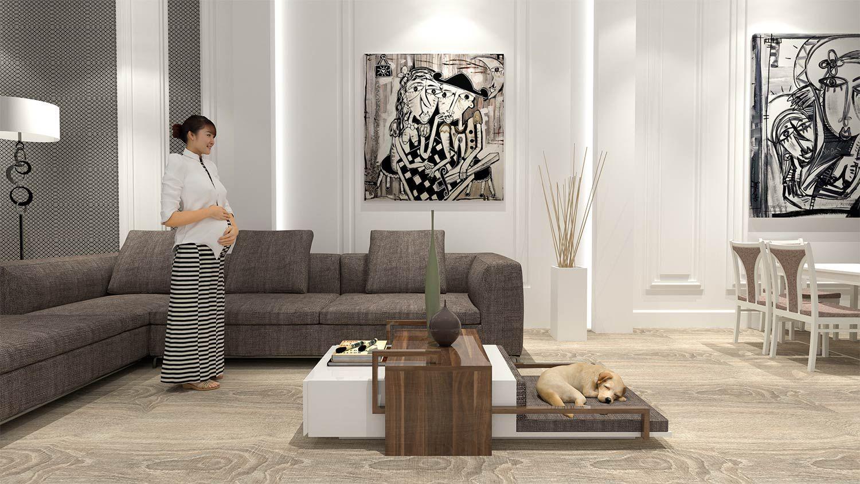 Cucce Design Per Cani cuccia per cani di design di lusso con ripiano, cassetti