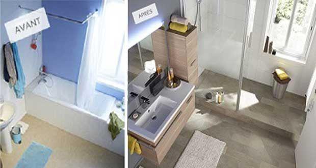 Refaire sa salle de bain en 6 idées déco faciles Meuble rangement - Peindre Du Carrelage Mural De Cuisine