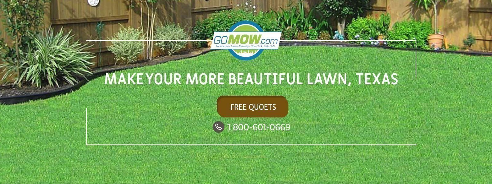 Start with gomow lawn mowing services make you more