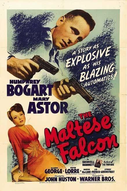 THE MALTESE FALCON Movie Silk Fabric Poster Humprey Bogart RARE