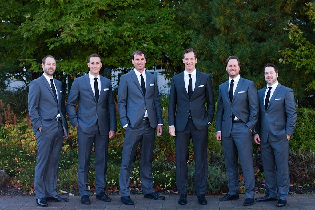 groom different suit than groomsmen navy and gray - Google Search ...