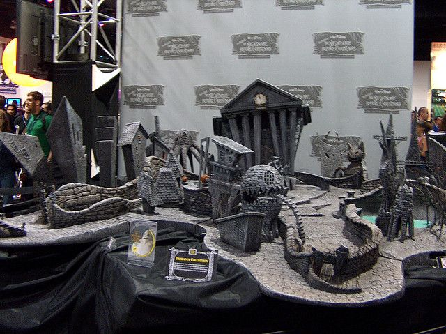 nightmare before christmas town layout google search