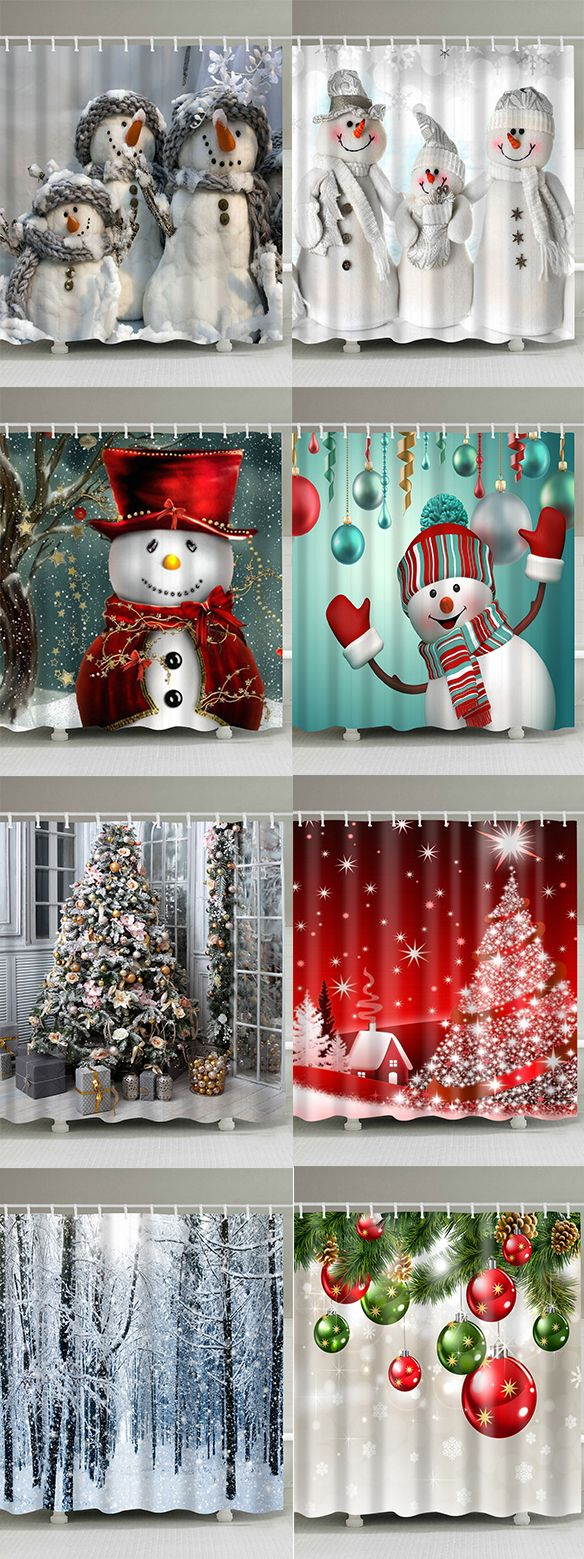 How To Decorate Your Bathroom Best Shower Curtains To Buy Now Free Shipping Over 39 Dresslily Christmas Christmas Shower Curtains Christmas Diy Christmas