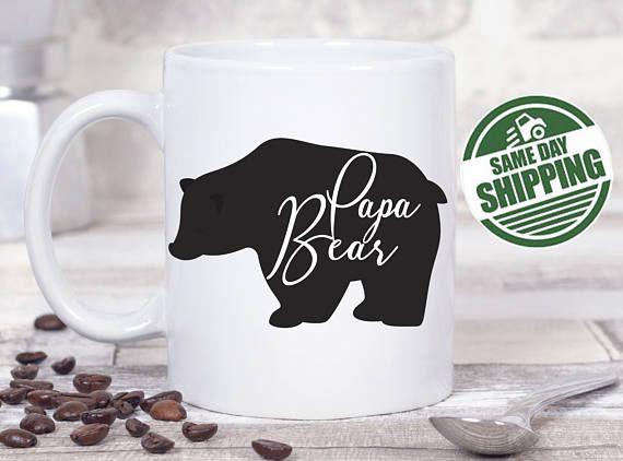 Papa Bear Mug Papa Bear Baby Bear Fathers Day Gift Papa Bear Baby Bear Daddy Bear Dad Mug Mama Bear Mug Papa Mug Fathers Day Mug