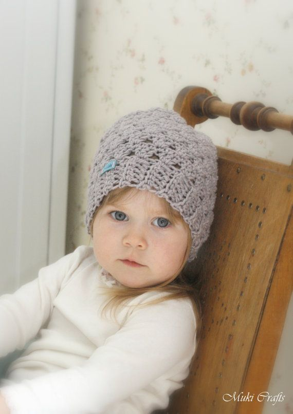 Crochet Pattern Slouchy Lace Hat Jessica Toddlerchildwoman Sizes