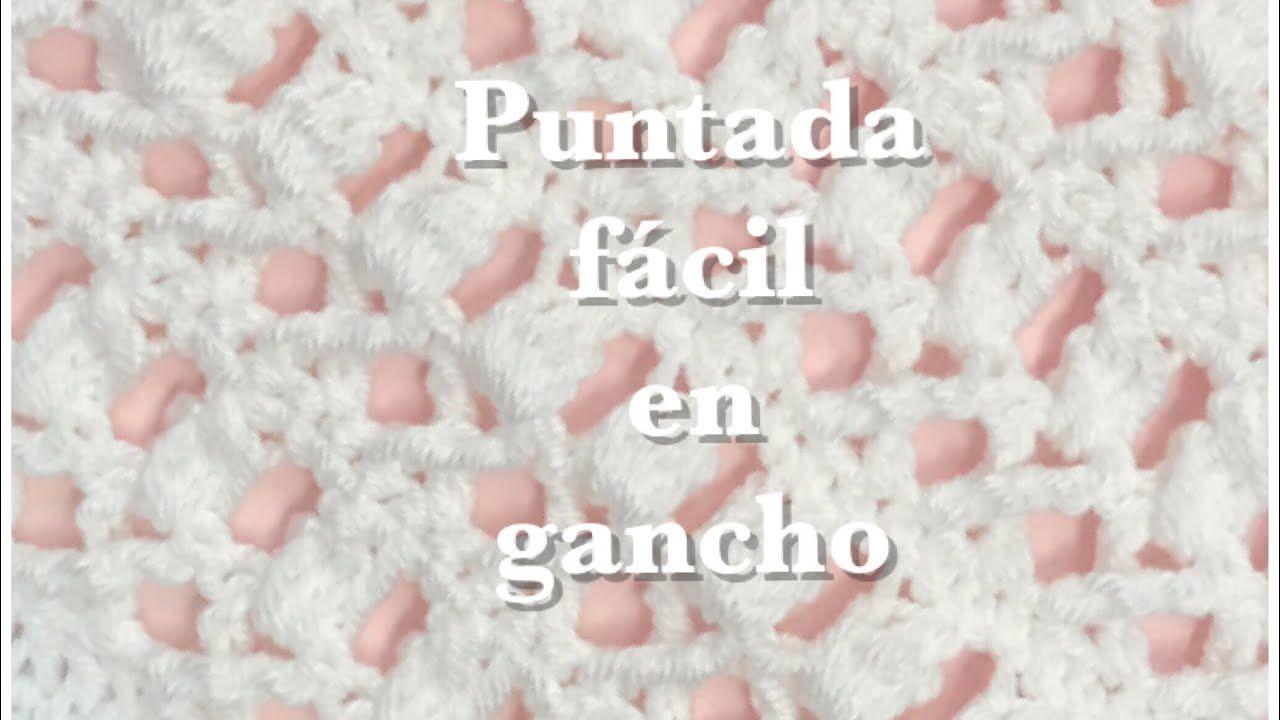 Puntada fácil y rápida en gancho #91 - YouTube   crochet   Pinterest ...