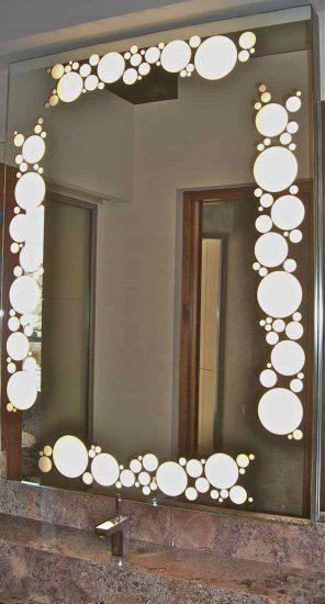 Decorative Mirrors With Frosted Etched