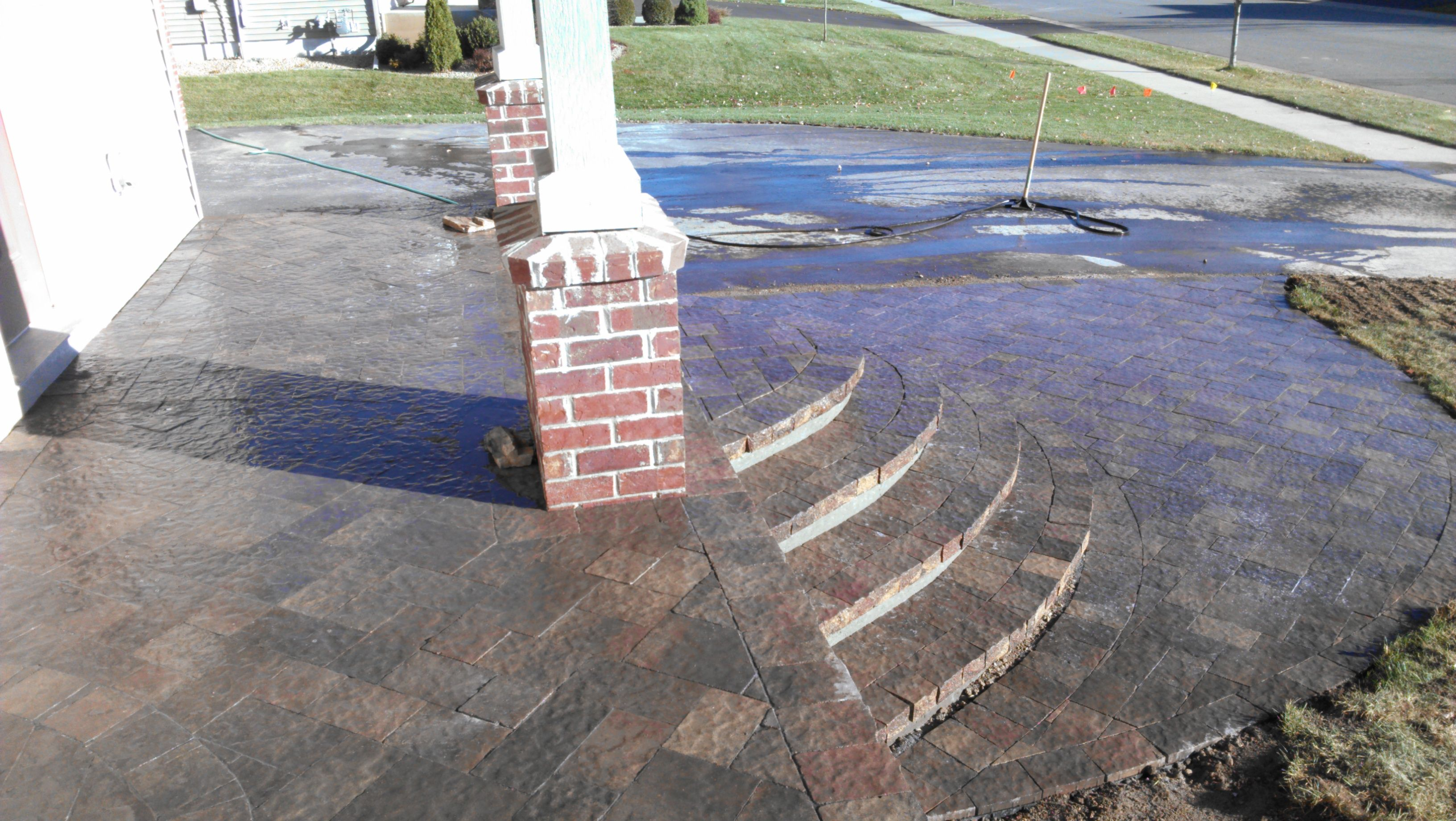 Covering An Ugly Concrete Stoop Creating New Steps With