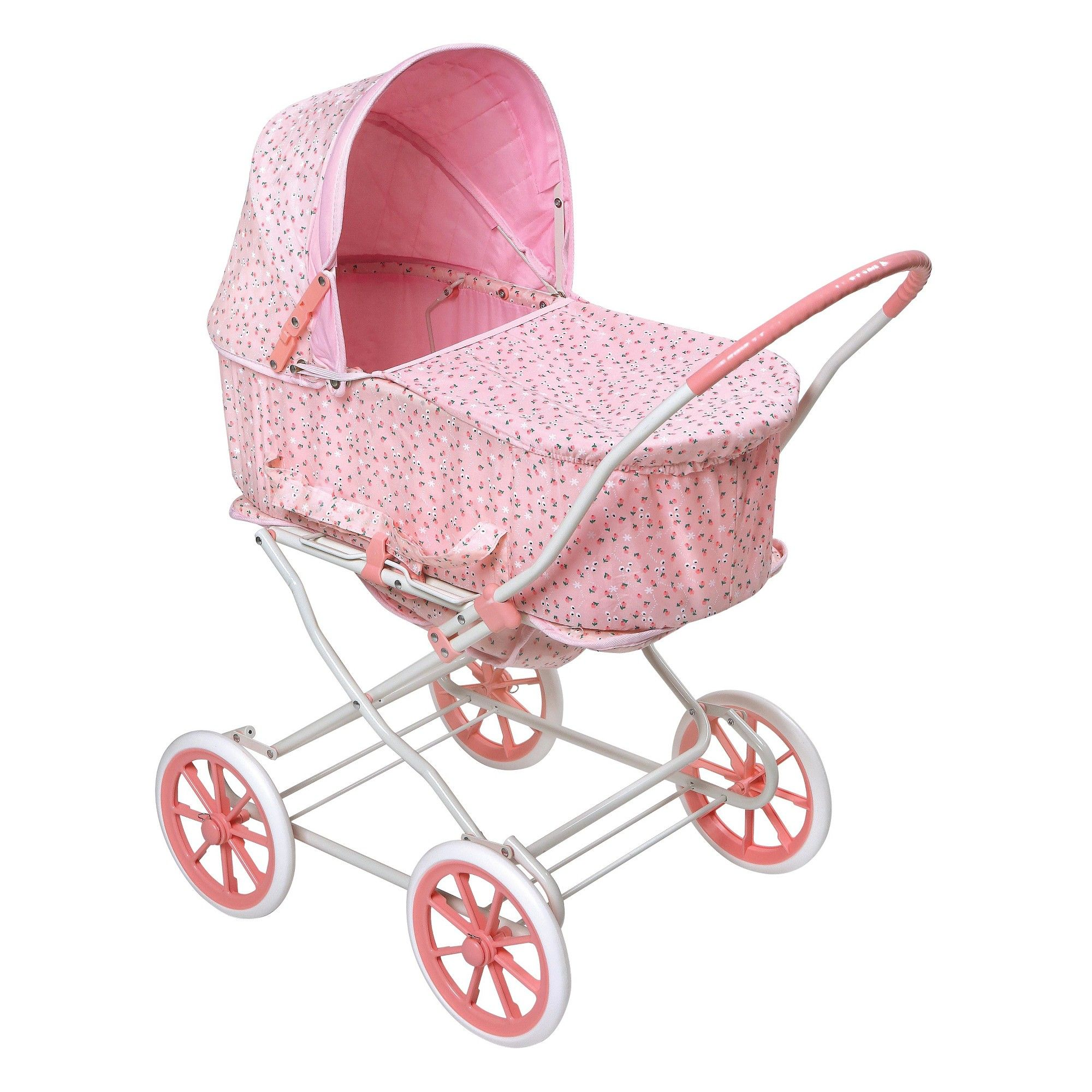 Badger Basket Rosebud 3in1 Doll Carrier/Stroller Pink
