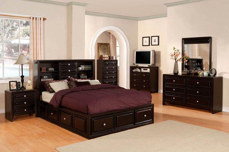 Yorkville Storage Platform Bed Cm7059 Full Bedroom Furniture