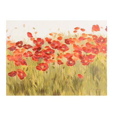 Poppies in the Field Canvas Art Print | Virtual Disney - Mickey ...