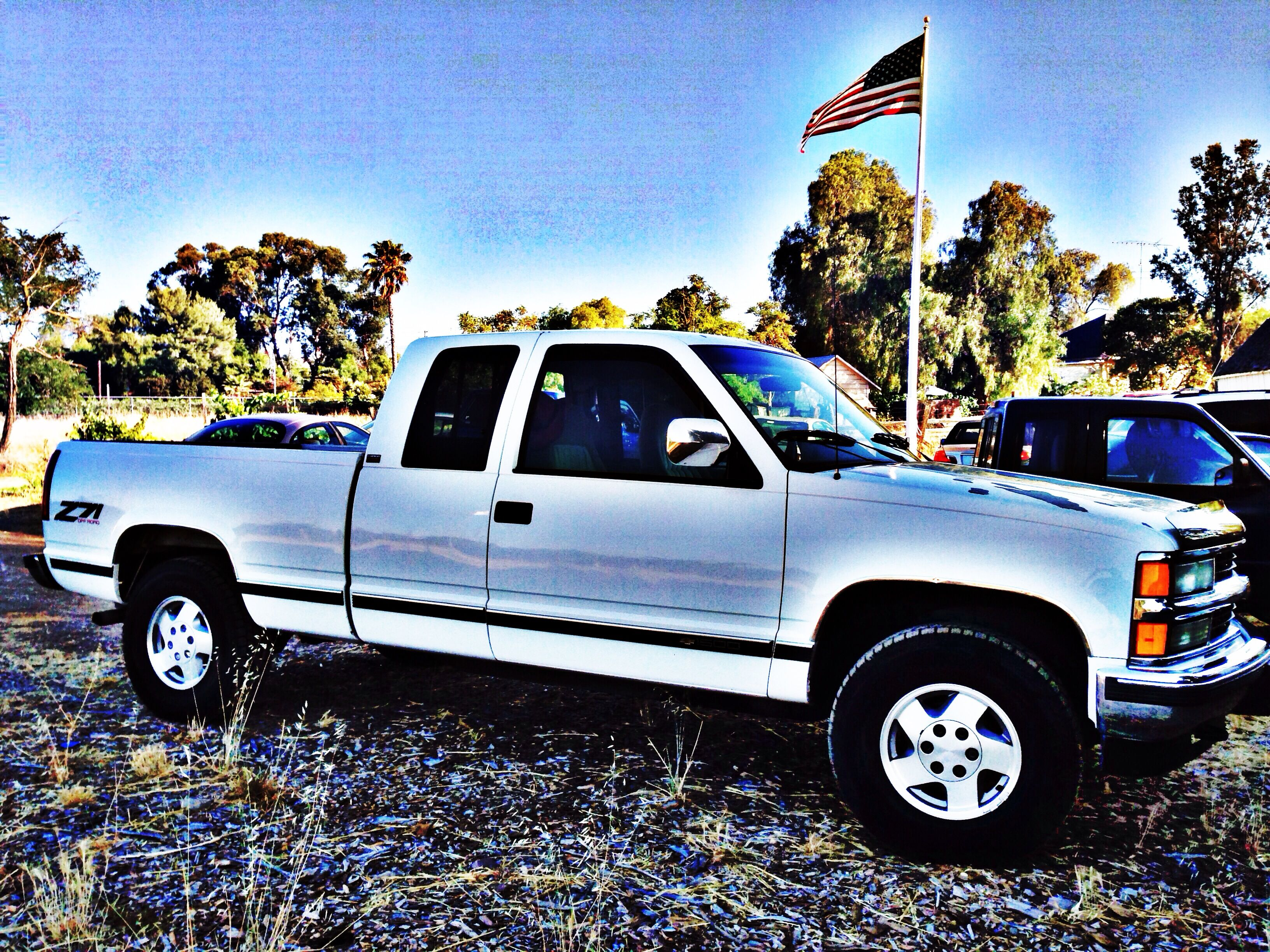 My dad gave my son his old 94 chevy just like this but in indigo blue