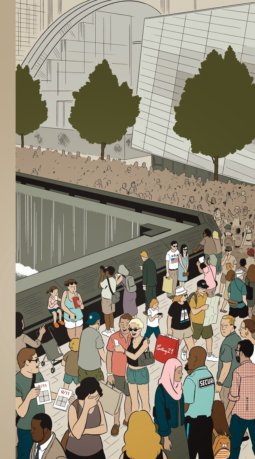 """Memorial Plaza"", Adrian Tomine's New Yorker cover"