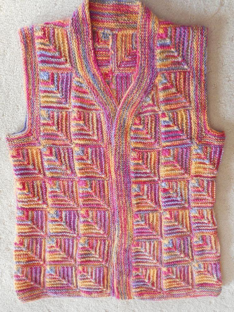 Modular Knit Vest Knitting Modular Mitered Pinterest Knitting