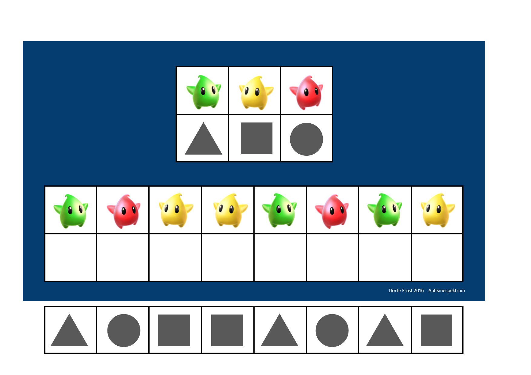 Board And Tiles For The Mario Visual Perception Game By Autismespektrum