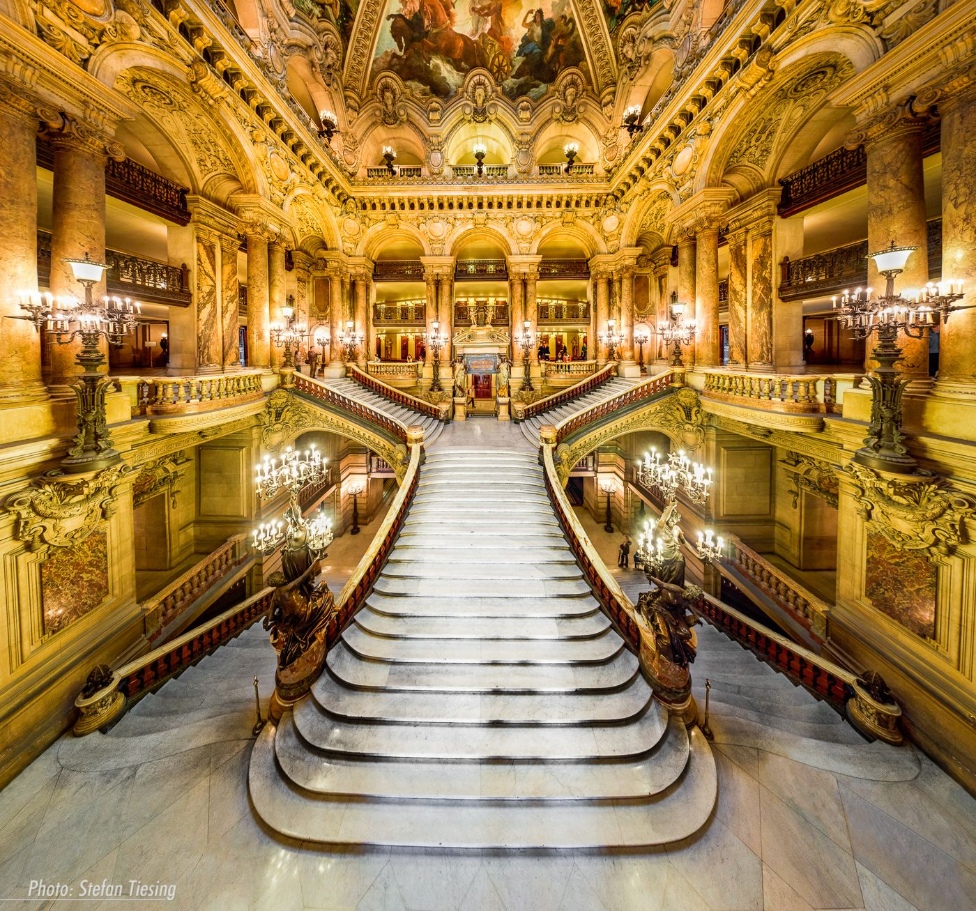 Staircases The Grand Staircase At The Palais Garnier