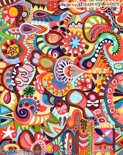 Art abstrait color d tail peintures et dessins abstraits - Dessin colore ...