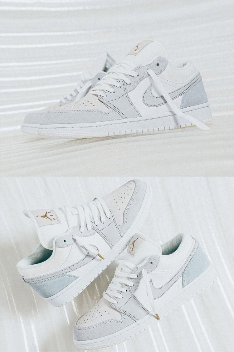 Air Jordan 1 Low Paris White Sky Grey Football Grey Cv3043 100