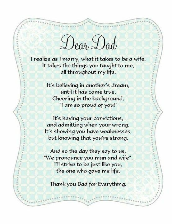 father of the bride poem 5 21 2016 Pinterest Poem, Father - father of the bride speech examples