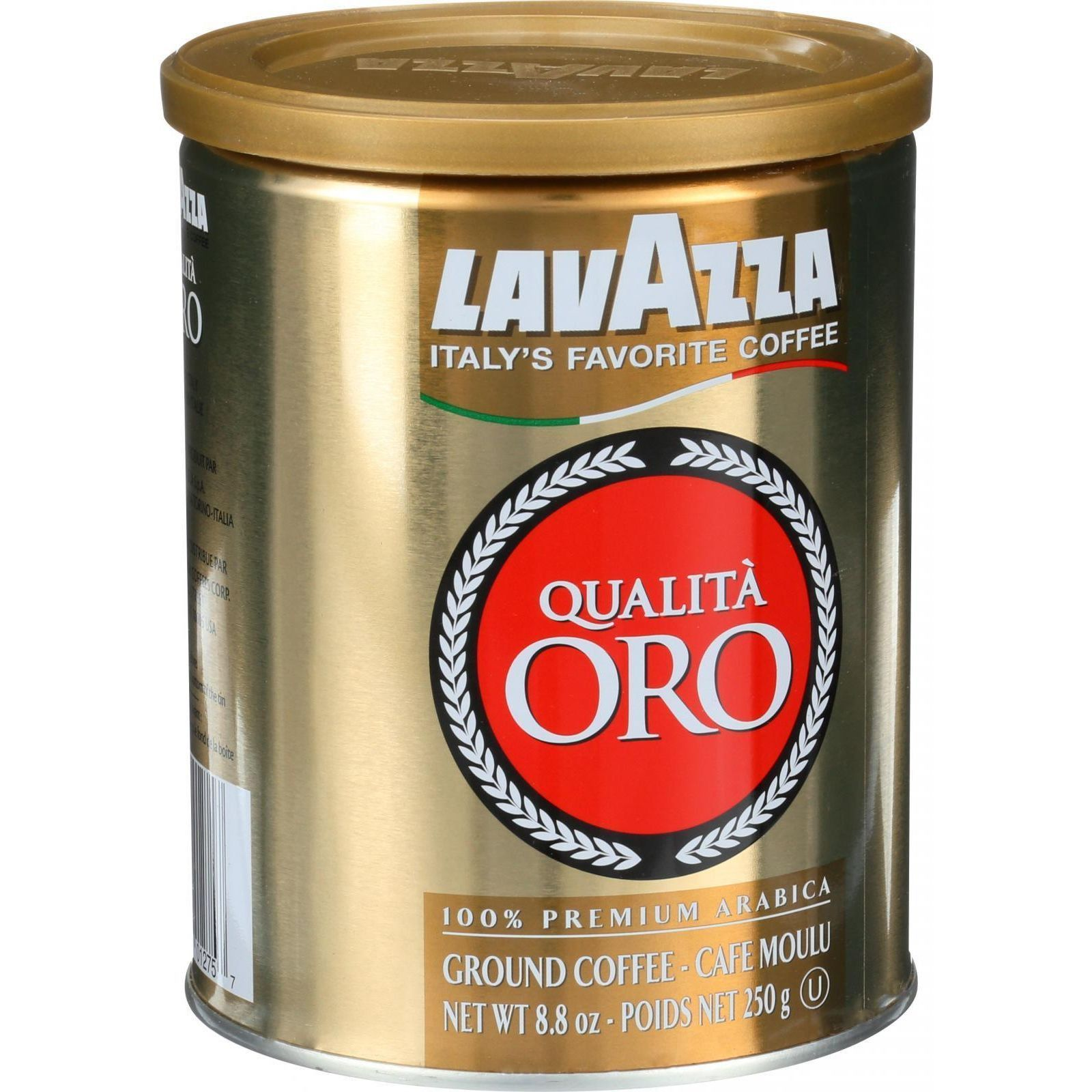 LavAzza Coffee Quality Gold Ground 8.8 oz Can
