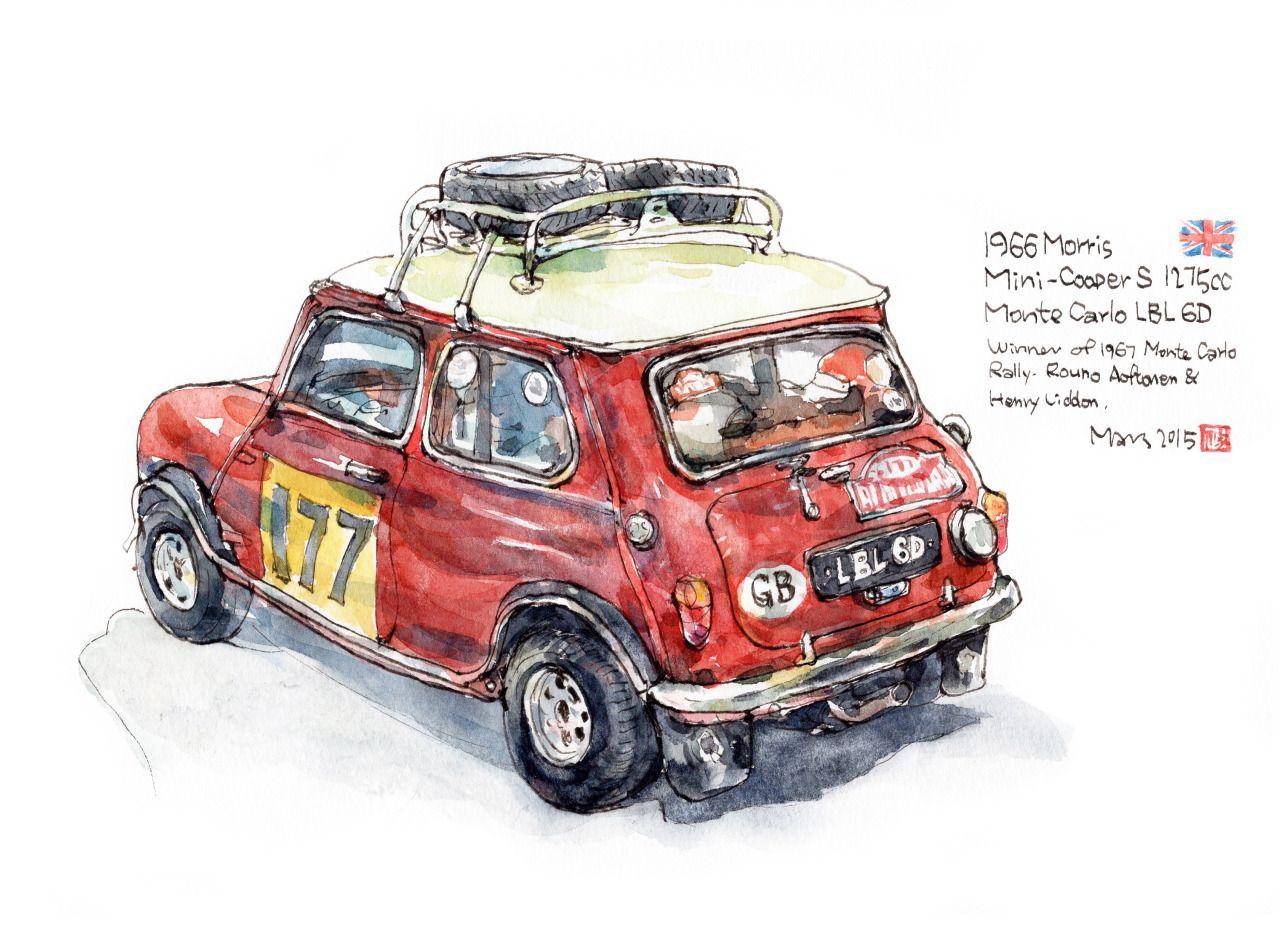 1966 morris mini cooper s morris pinterest dessin d observation boite de vitesse et - Coloriage voiture mini cooper ...