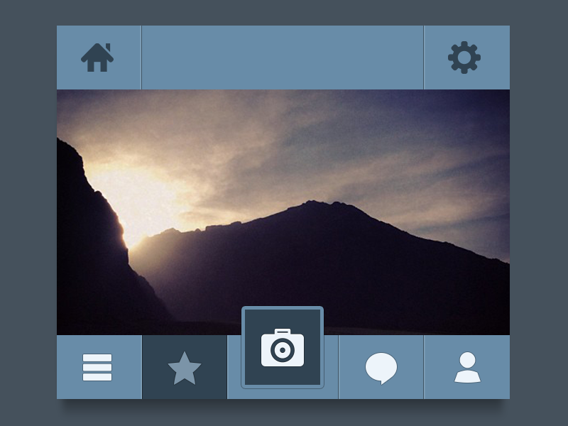 Photo app UI by Ehsan Rahimi, via #dribbble #ui.