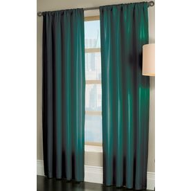 Allen Roth Florence L Solid Teal Rod Pocket Window Curtain Panel   The  Actual Color Looks Much Better In The Store Than The Photo