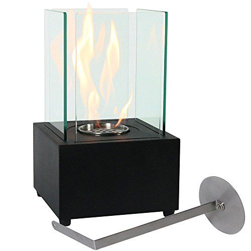 sunnydaze cubic ventless bio ethanol tabletop fireplace rh pinterest ca