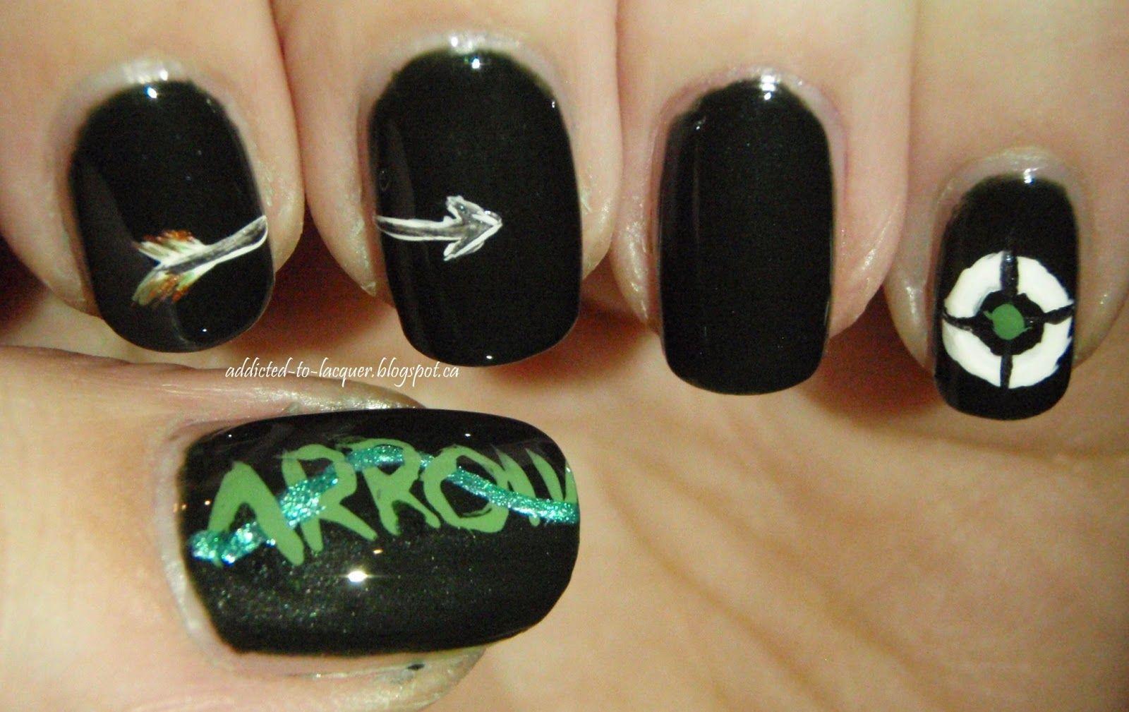 Green Arrow Nail Art   OPI - Here Today... Aragon Tomorrow   Nails ...