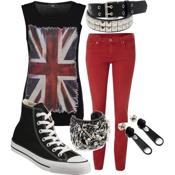 Rebel punk style dresses
