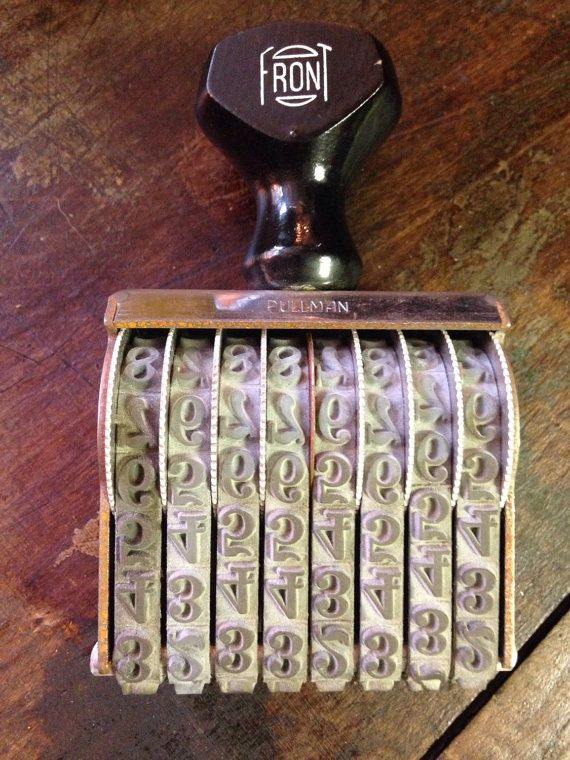Vintage industrial large movable numbers stamp by Verbayna on Etsy