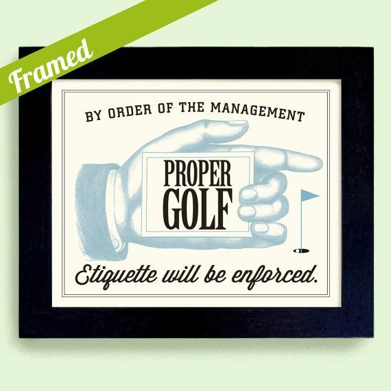 Golf Art Fathers Day Gift Unique Framed Art Golf Gift Wall Art How ...