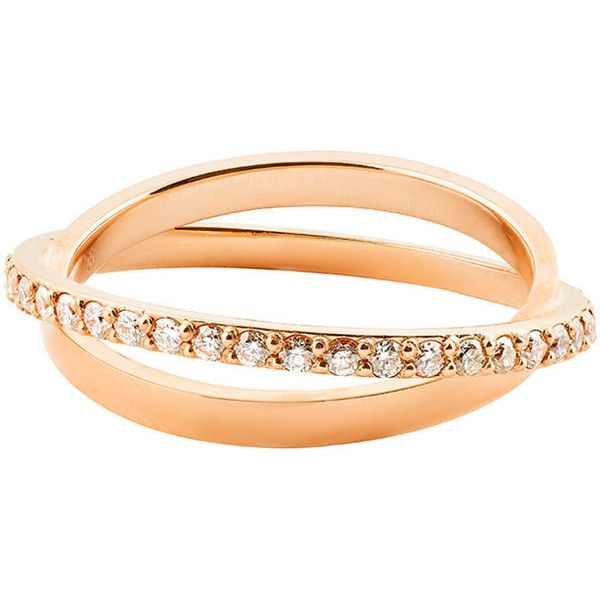 Lana Diamond Twist Ring in 14K Rose Gold 2925 CAD liked on